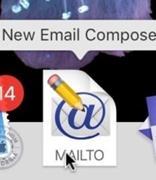 如何为Mac Dock创建新的电子邮件撰写快捷方式