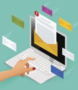 电子邮件更适合于我们以前使用Internet进行登录和注销