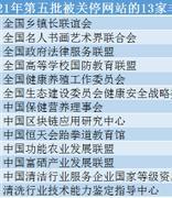 注意!中国区块链应用研究中心等13家非法社会组织网站被关停